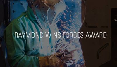 Raymond Wins America's Best Midsize Employer Award by Forbes