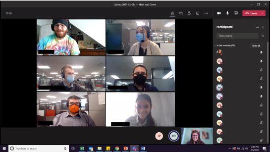 Student Co-Ops, Microsoft teams meeting, Raymond Careers